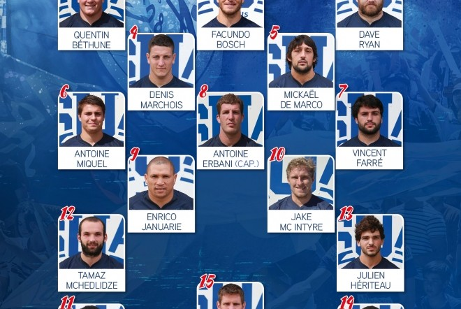 J2TOP14 : la compo d'Agen face au Racing 92
