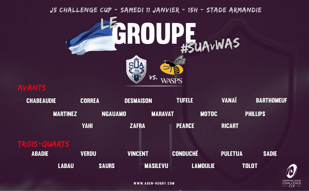 Parlons d'Agen / Wasps (Challenge Cup) Groupe_WASPS